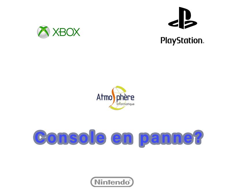 Console en panne ? Xbox - PlayStation - Nintendo- Informatique - Dépannage - Traceur - Atmosphère Informatique - 57220 Boulay-Moselle