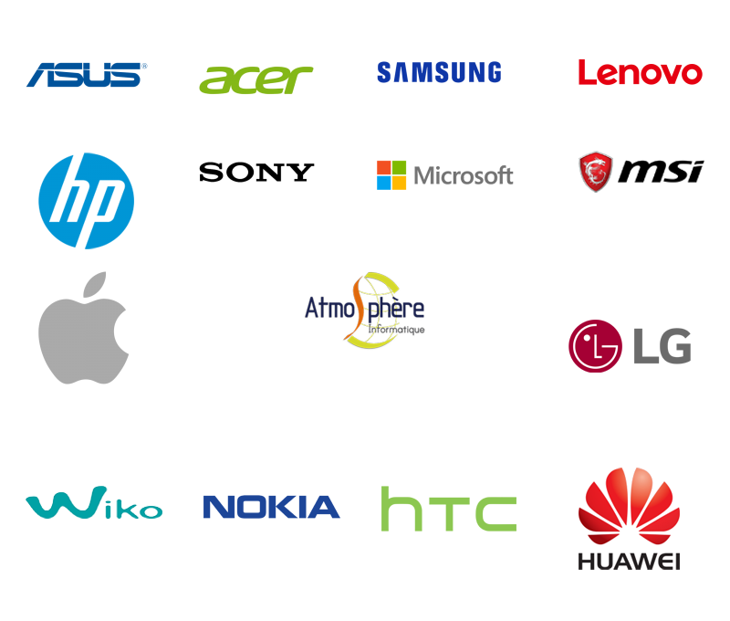 Asus- Acer - Samsung - Lenovo - Hp - Sony - Microsoft - Msi - Apple - LG- Wiko - Nokia - HTC - Huawei - eBeam - dépannage - Informatique - Traceur - Atmosphère Informatique - 57220 Boulay-Moselle