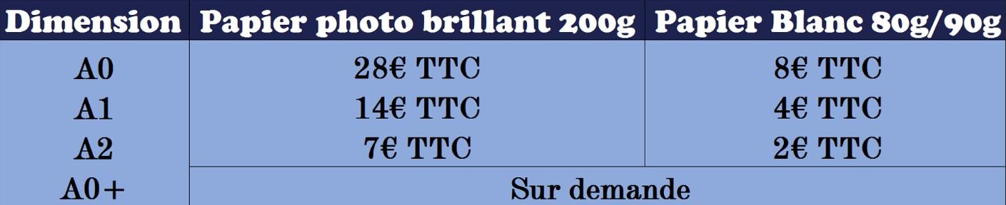 Tarif reproduction - dépannage - Informatique - Traceur - Atmosphère Informatique - 57220 Boulay-Moselle